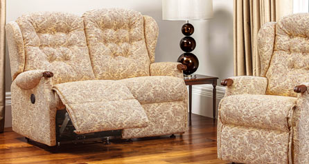 Lynton Knuckle Manual/Powered 2 Seater Recliner