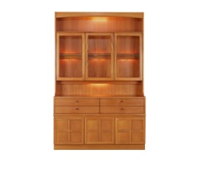 Classic Teak Display Combination Unit