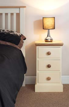 Cornish 3 Drawer Narrow Bedside
