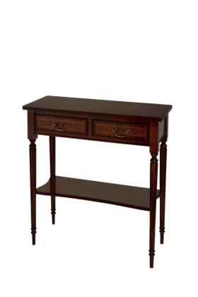 Reproduction 2 Drawer Hall Table with Shelf