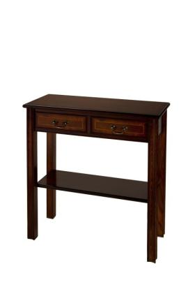 Reproduction 2 Drawer Chippendale Hall Table