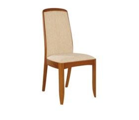 Shades Teak Fully Upholstered Dining Chair