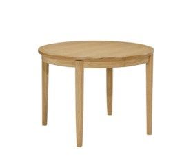 Shades Oak Circular Dining Table on Legs with Sunburst Top