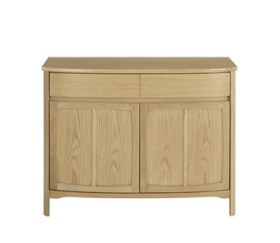 Shades Oak Shaped 2 Door Sideboard
