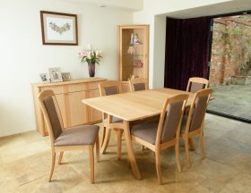 click to view the andrena albury boat shaped fixed top table