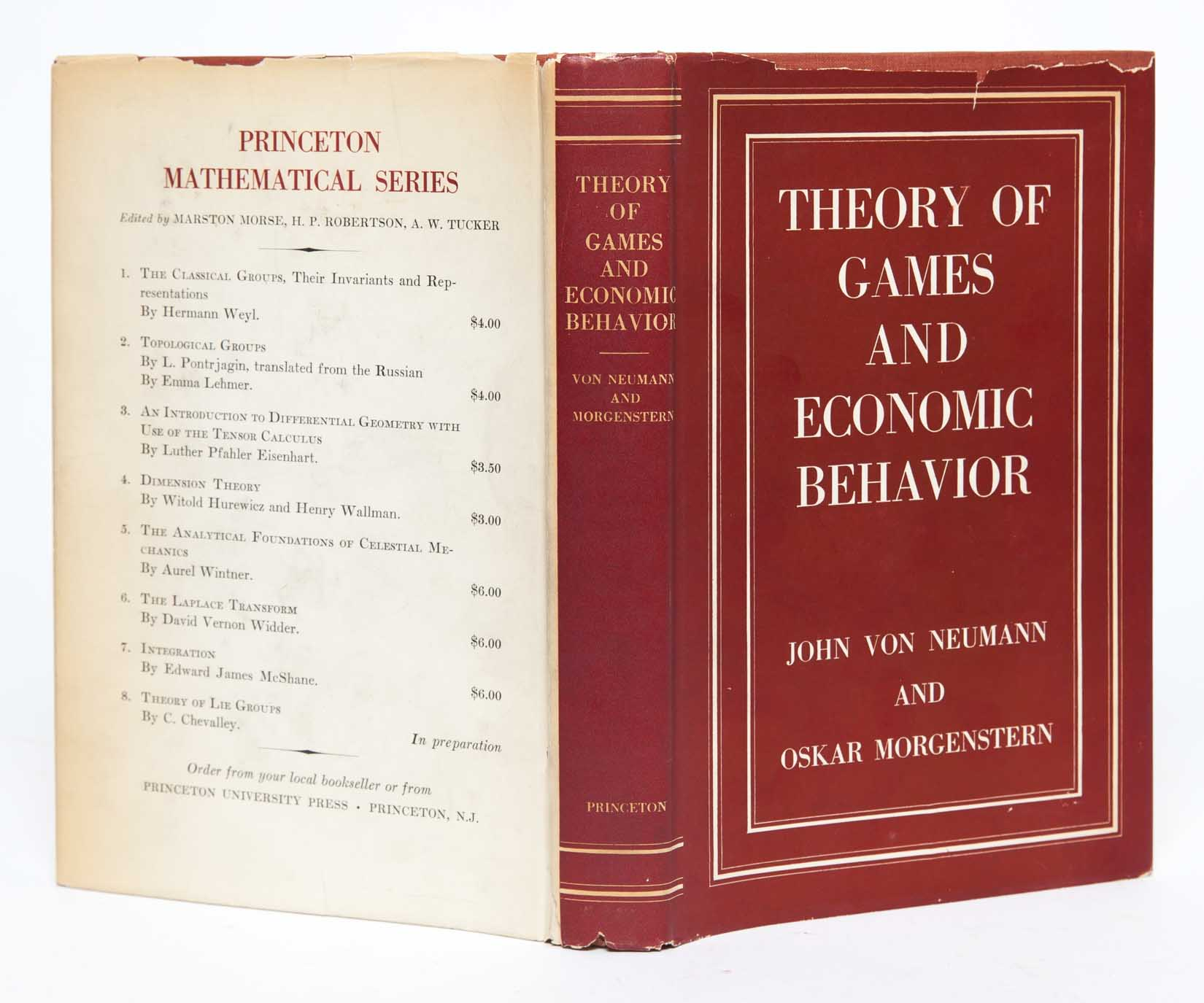 Theory Of Games And Economic Behavior John Von Neumann