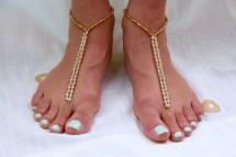 Diy Barefoot Sandals Beach Wedding