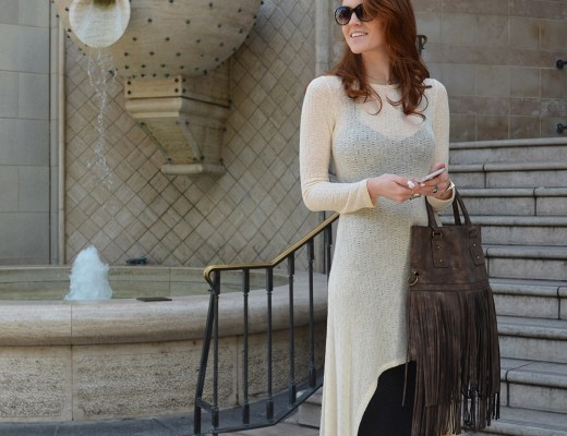 Cream Sweater Dress on Rodeo Dr. - www.whitneyhoy.com