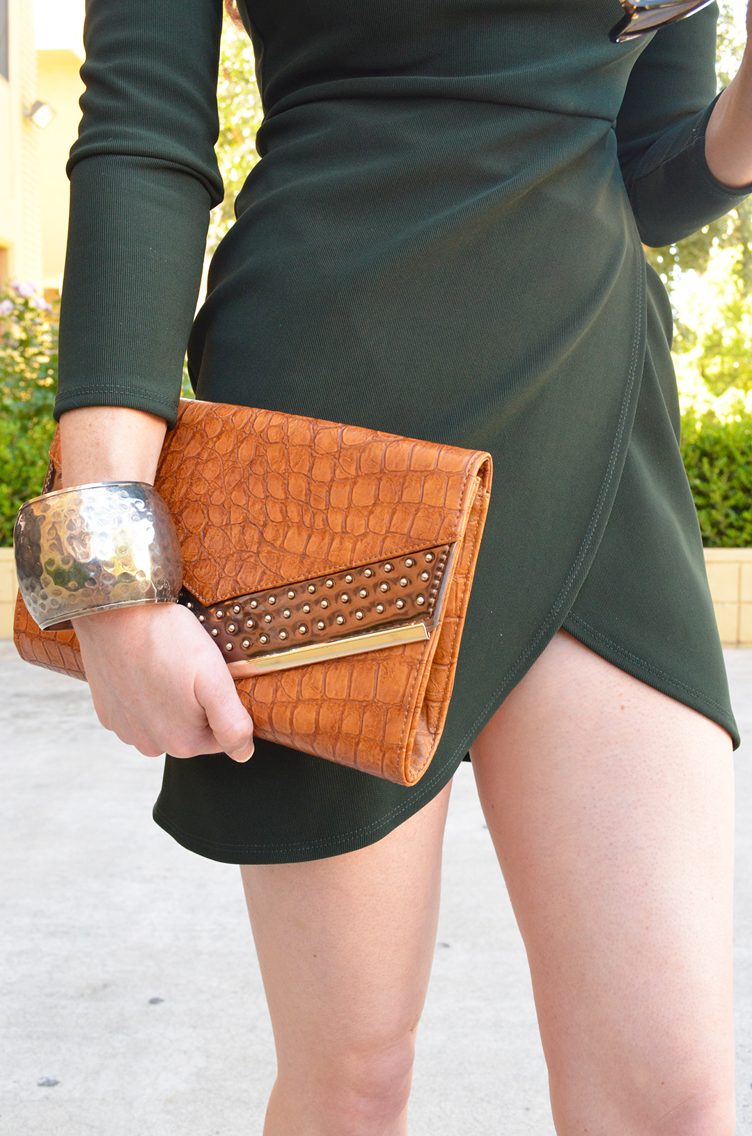 Date Night in Green Dress | whitneyhoy.com