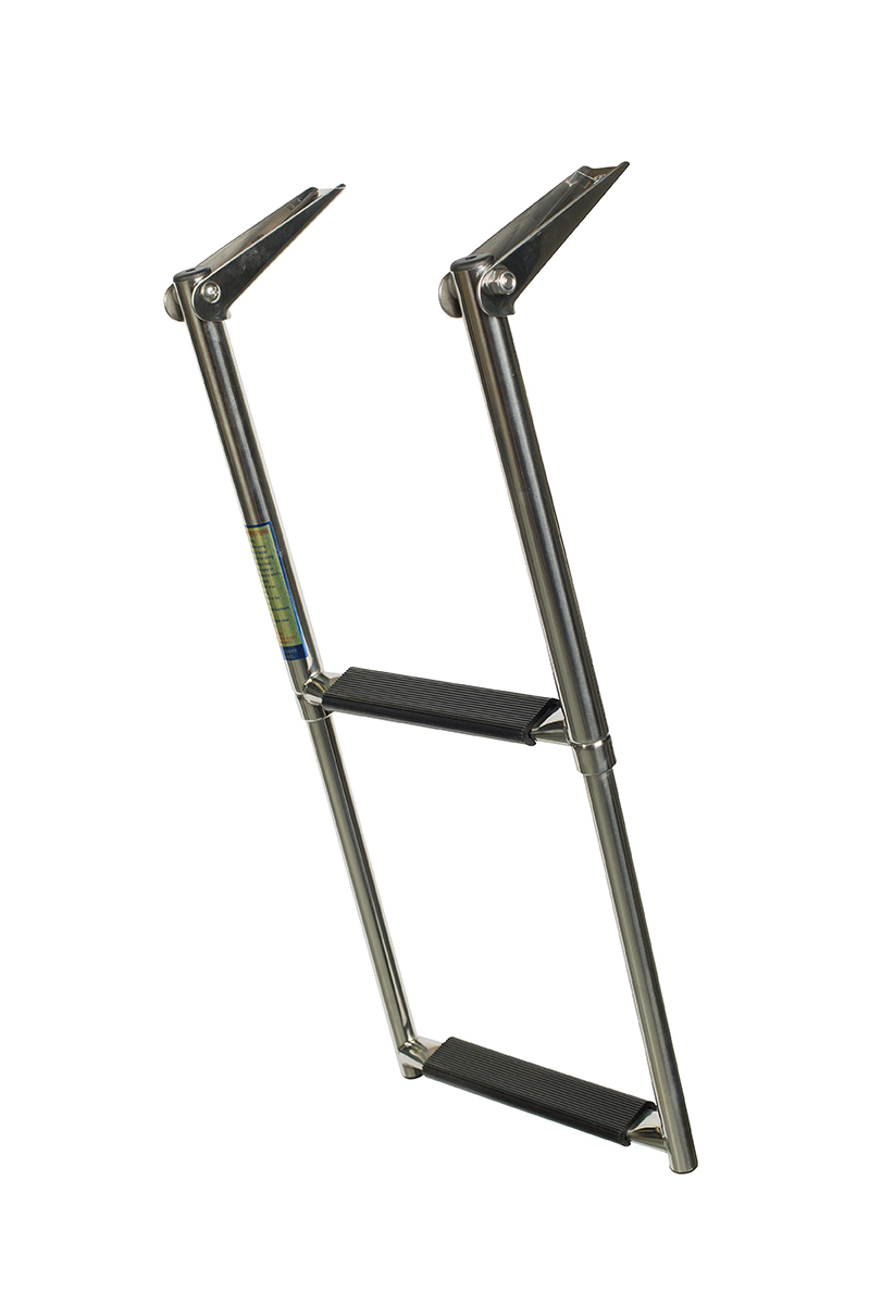 Stainless 2 Step Telescopic Ladder I Queensland I