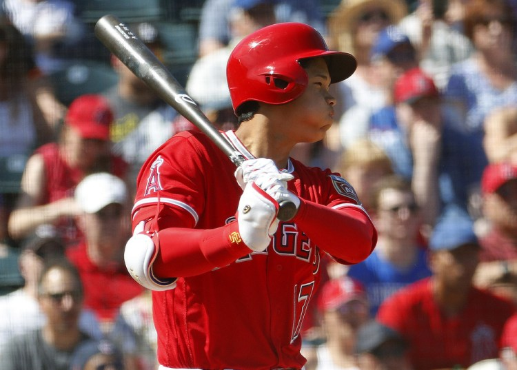 Shohei Ohtani has mixed results at the plate, working on ...