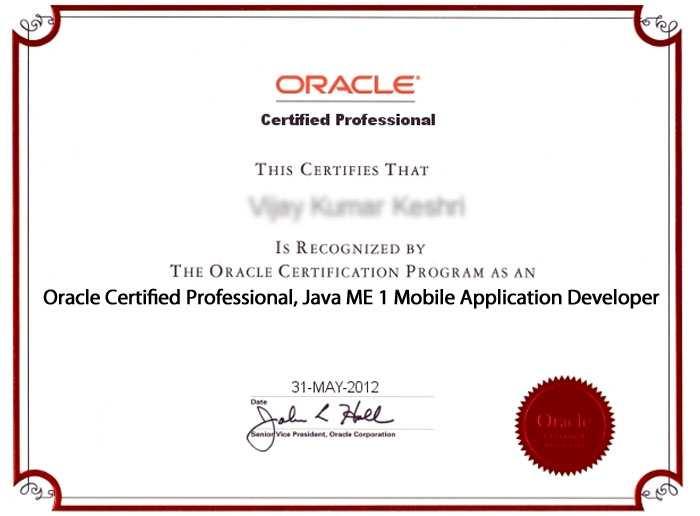 OCPMADSCMAD Sun Certified Java ME 1 Mobile Application