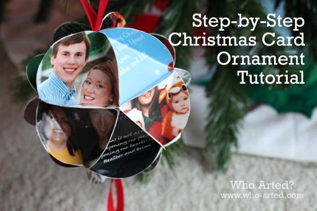 Christmas Card Ornament 16