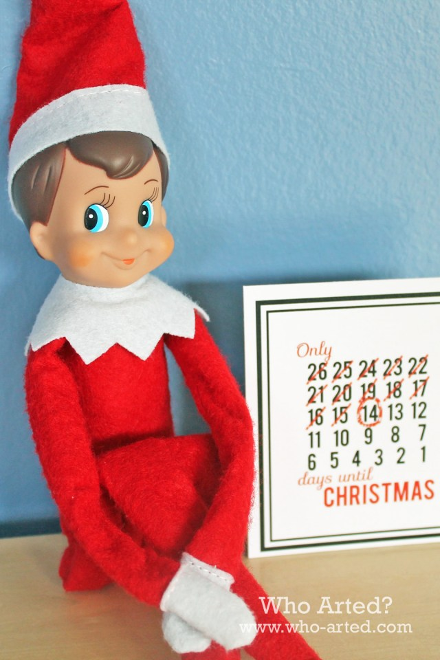 Elf on the Shelf Countdown Cards 03