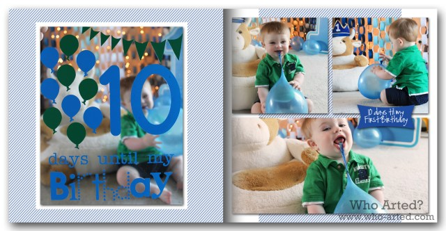 Baby Book Ideas Birthday Countdown
