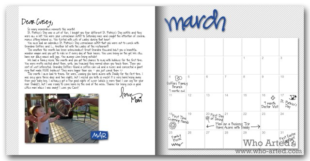 Baby Book Ideas Monthly Letters