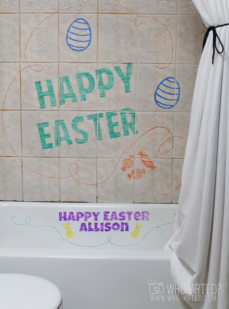 Easter Egg Bath Hunt Who Arted 01