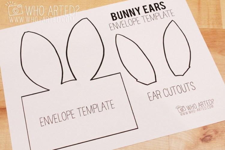 Easter Envelope Bunny Envelope Who Arted 01