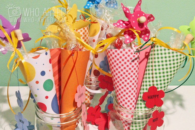 May Day Cone Template Who Arted 01