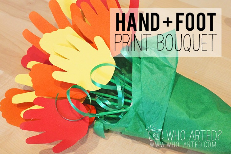 Mother's Day Bouquet Handprint Footprint Who Arted 00