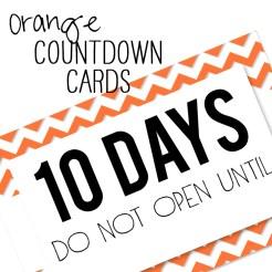 Birthday Countdown Cards Mini Orange Who Arted Template Thumbnail