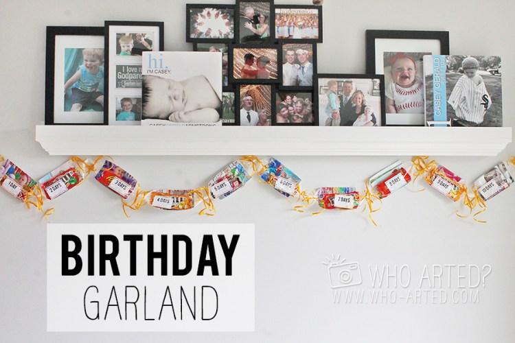 Birthday Garland Countdown Who Arted 00
