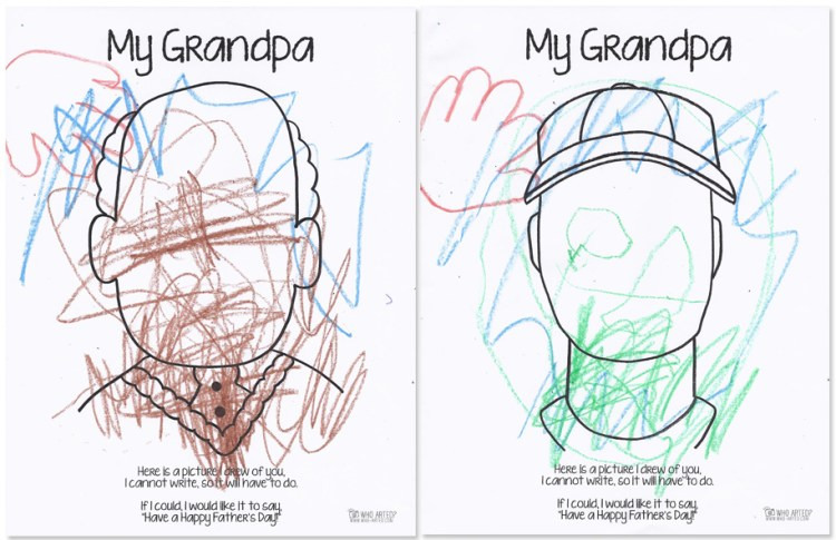 Father's Day Coloring Page Who Arted 07