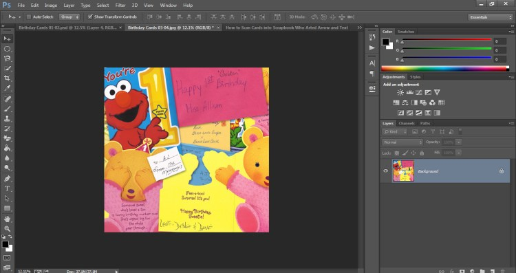 How to Scan Cards into Scrapbook Who Arted 26