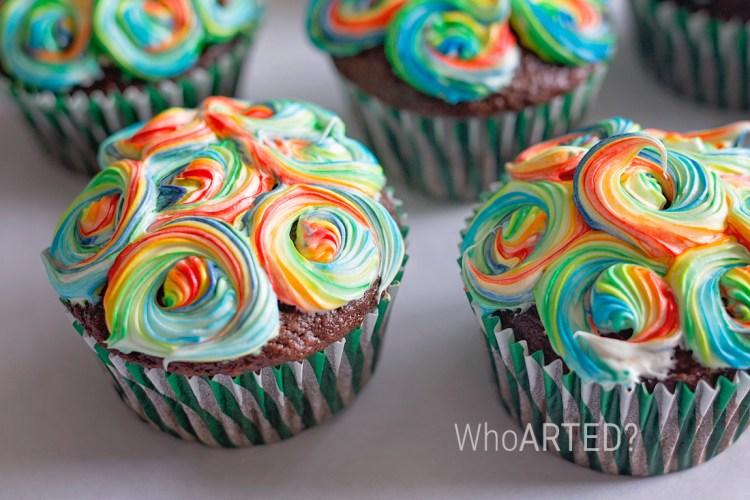 Rainbow Swirl Cupcakes 01