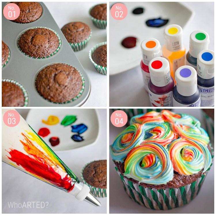 Rainbow Swirl Cupcakes 06
