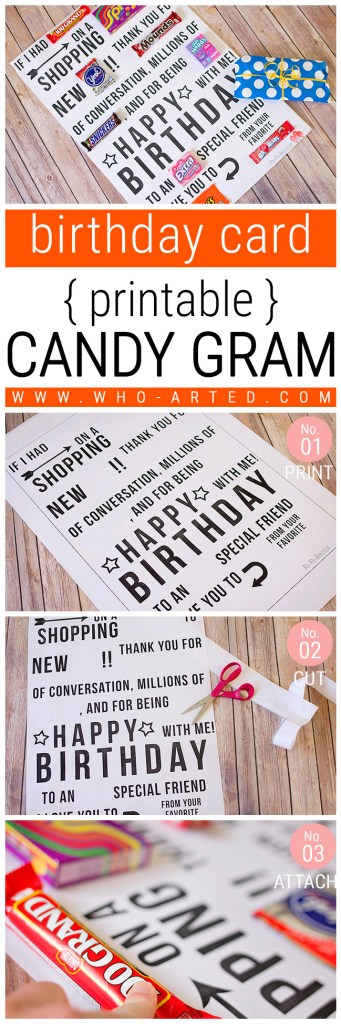Candy Gram Birthday Card 1 00 - Pinterest 02