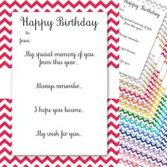 Birthday Memory Cards Template Yellow Who Arted Thumbnail