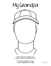 1 grandpa coloring pages | Father's Day Coloring Pages – Who Arted?