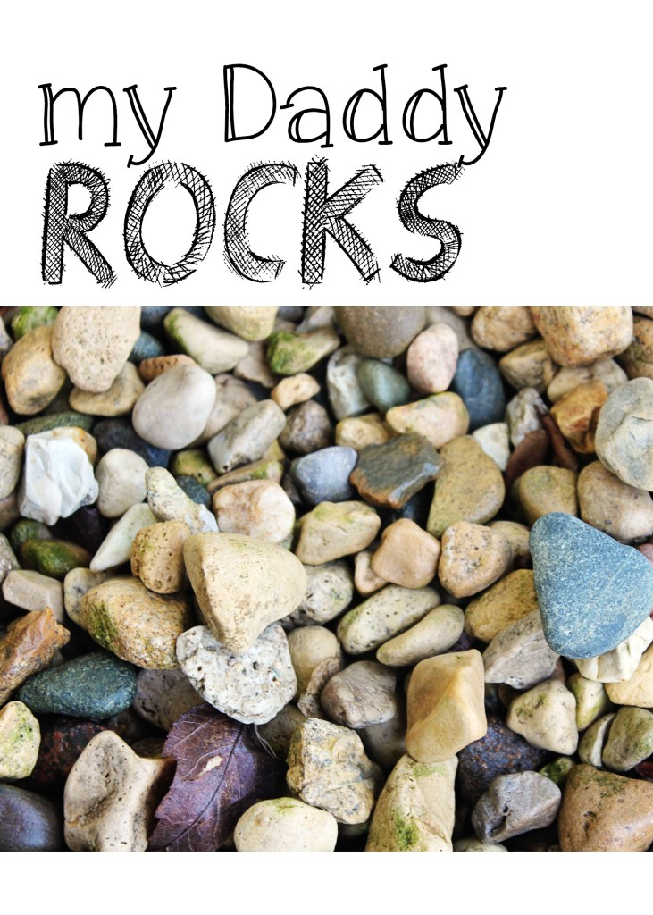 My Daddy Rocks Print 5x7