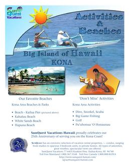 Example Of Resort Brochures In Activities Brochure By Sunquest Vacations
