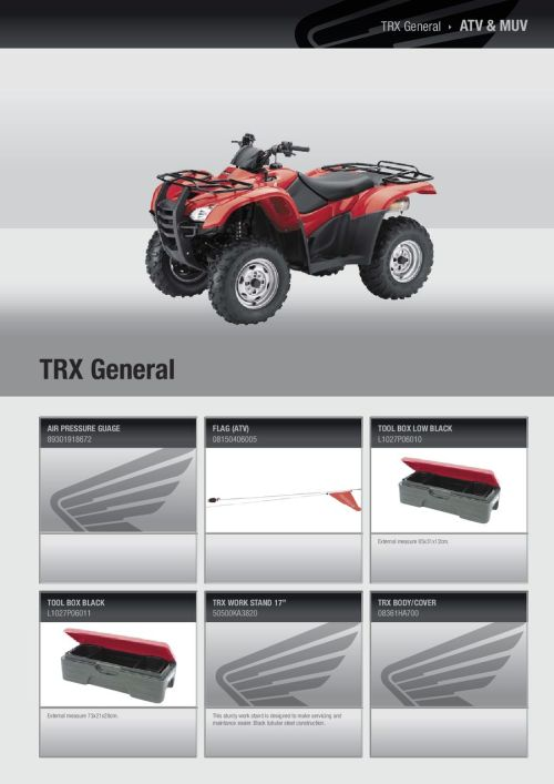 small resolution of honda atv accessory catalog