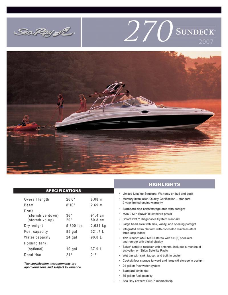 sea ray warranty aftermarket stereo wiring diagram 270 sundeck 2007 by hutchinson s boat works inc