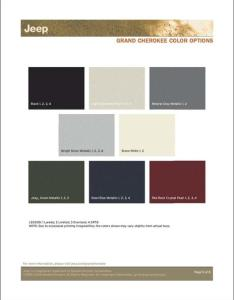 Jeep grand cherokee color chart also cashingfo rh