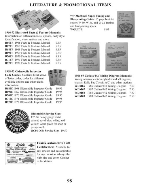 small resolution of page 101 of parts for 1961 through 77 cutlass and 442 2010 1970 oldsmobile 442 rally 1970 oldsmobile 442 rally pac wiring diagram