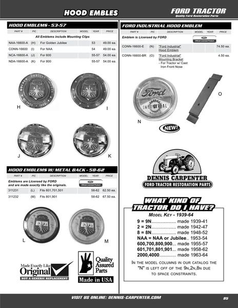 Page 95 of 1939-64 Ford Tractors Parts