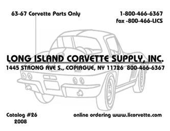 63-67 Corvette Parts 2008 by Long Island Corvette Supply