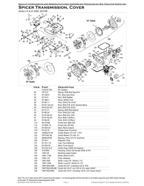 Spicer Transmission by Big Tractor Parts