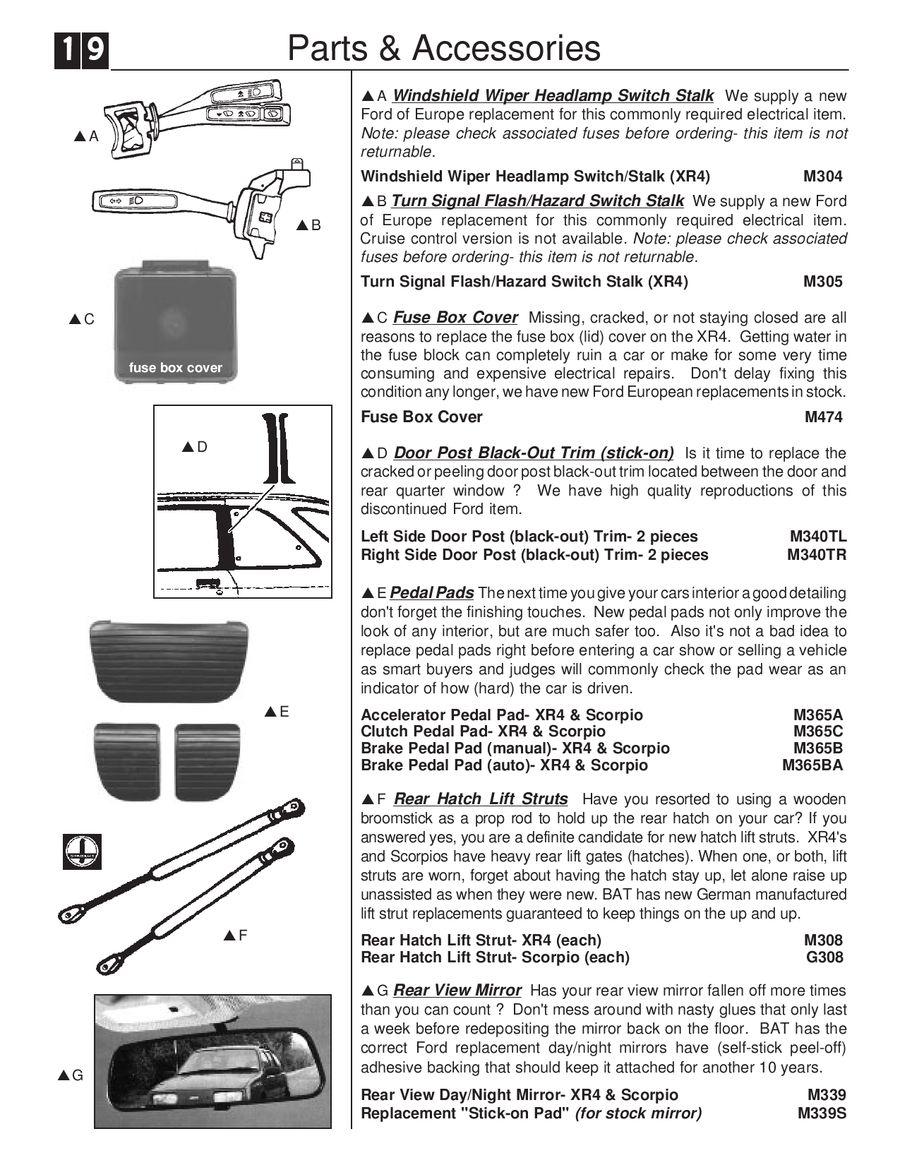 medium resolution of page 23 of merkur xr4 scorpio parts p