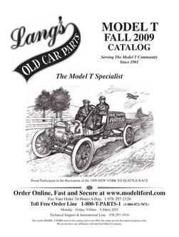 Model T Parts 2009 Fall by Langs Old Car Parts