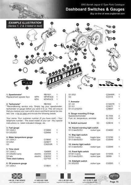 Page 75 of The Difinitive E-Type Parts Catalogue