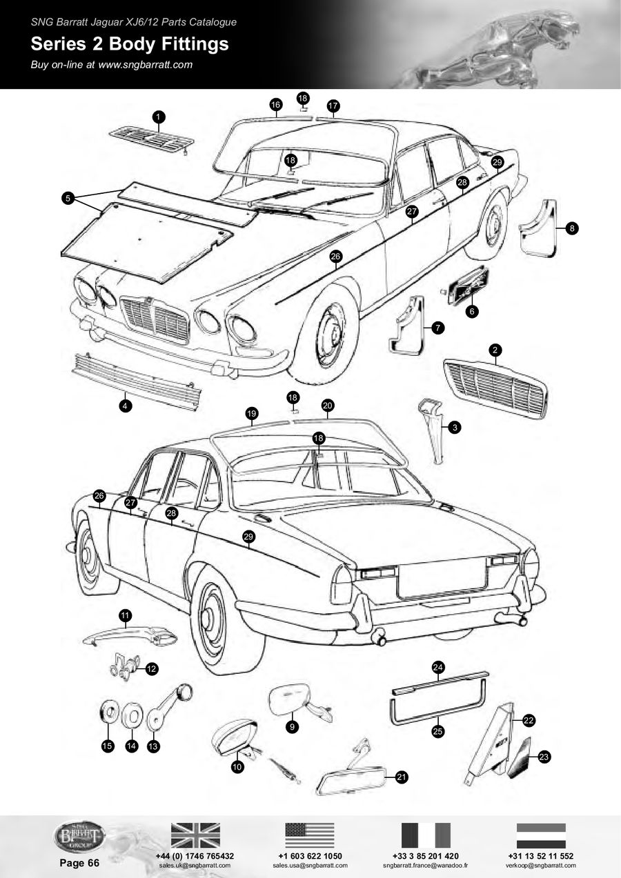 Jaguar Xj6 Series 2 Parts