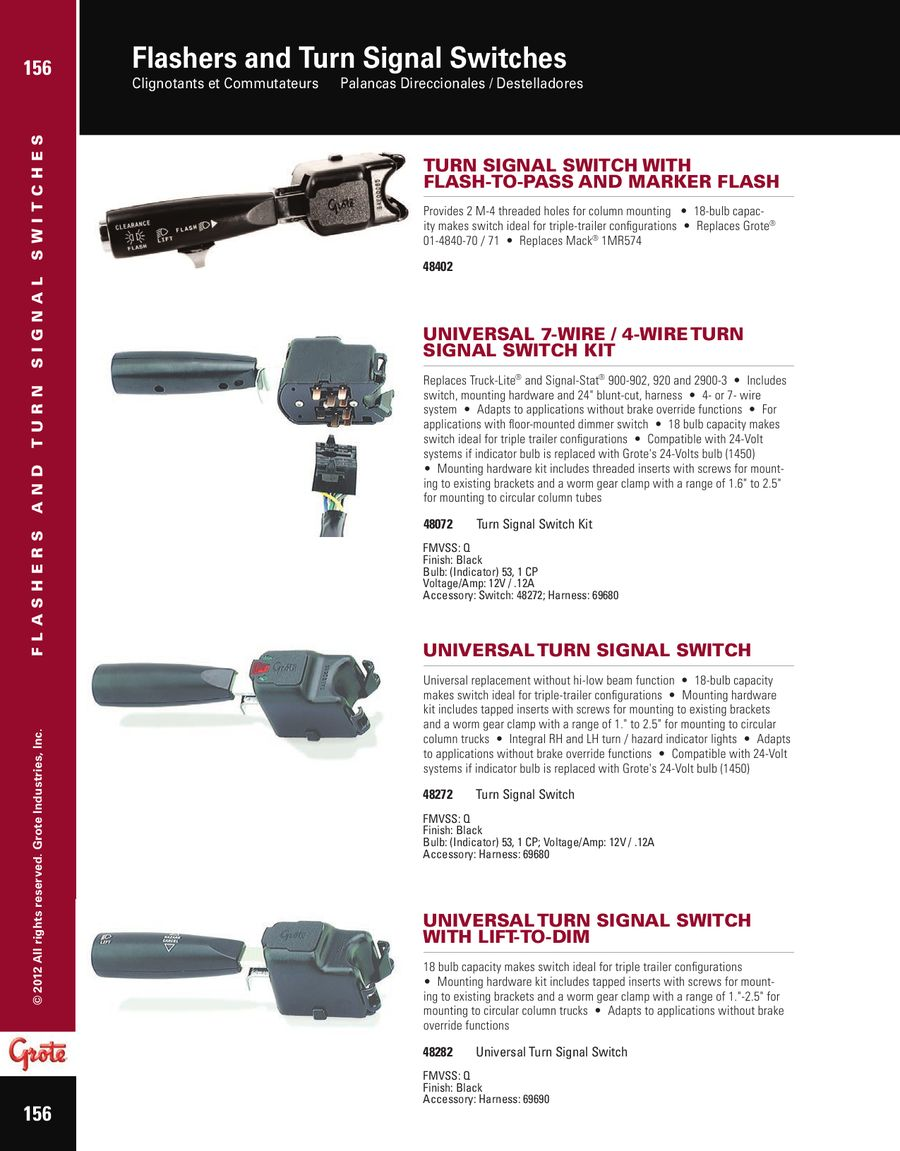 medium resolution of page 5 of flashers and turn signal switches 2012 3 prong flasher wiring diagram 48072 turn signal switch wiring diagram