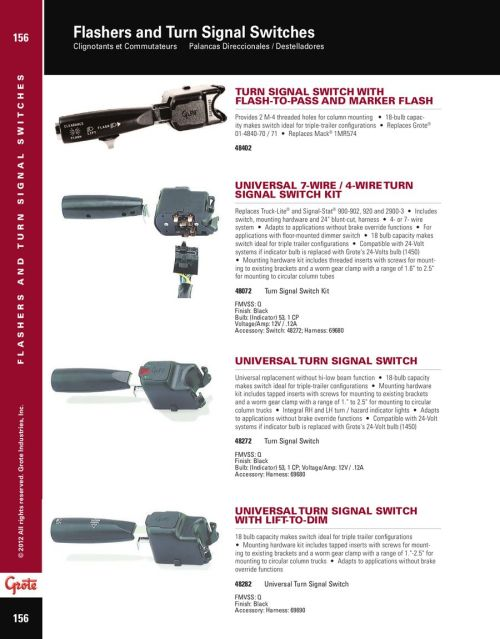 small resolution of page 5 of flashers and turn signal switches 2012 3 prong flasher wiring diagram 48072 turn signal switch wiring diagram