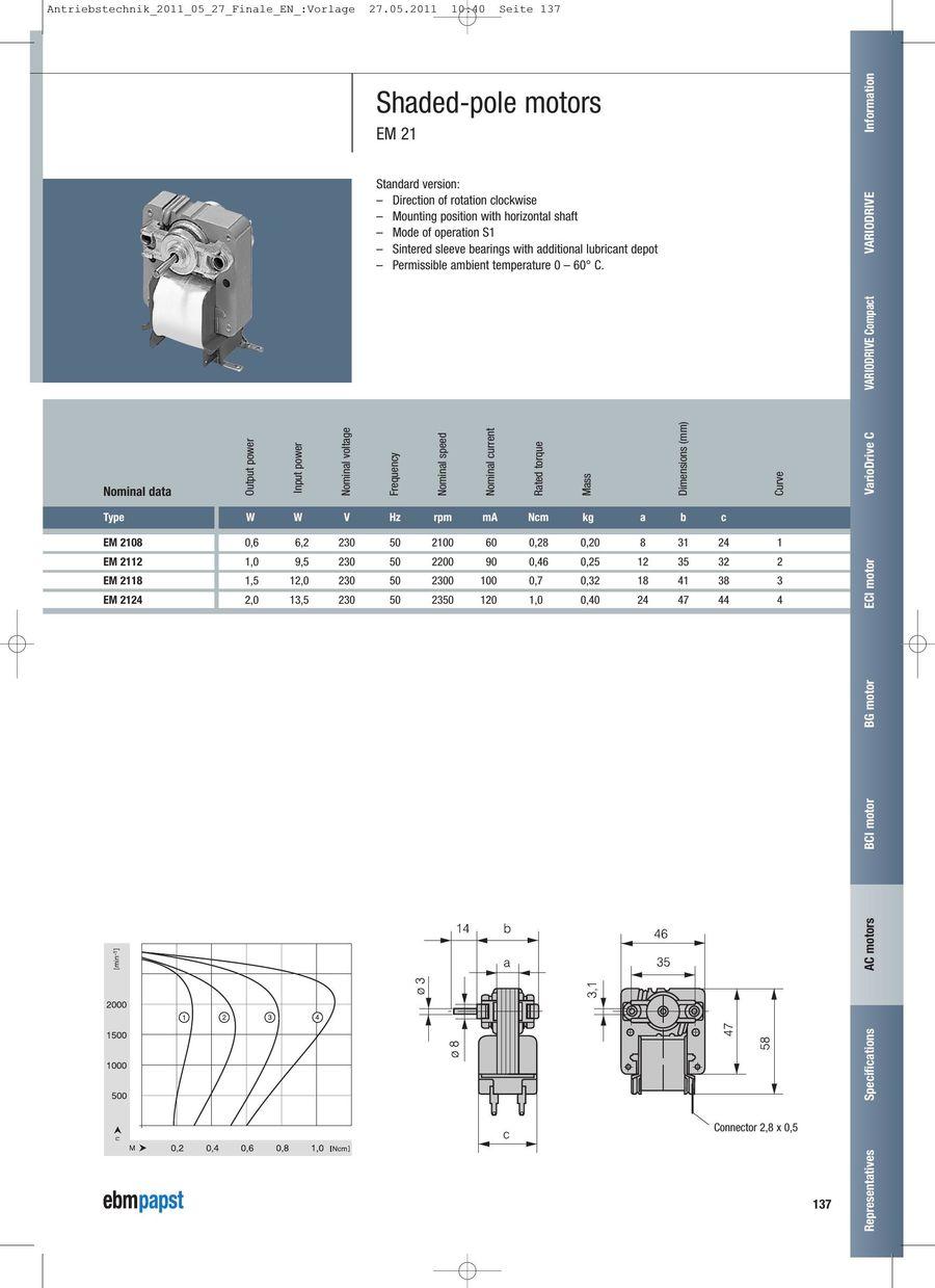 medium resolution of ac motors 2011 by ebm papst 110 volt outlet wiring diagram ebm 220 volt wiring diagram