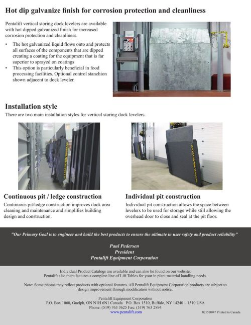 small resolution of pentalift dock plate wiring diagram wiring diagrams schemapentalift vertical storing hydraulic dock leveler 2016 by pentalift
